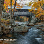 New England Photography of the Flume covered bridge in New Hampshire's Franconia state park.