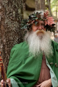 Druid by a tree at King Richards Fair