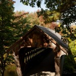 Henniker covered bridge in New Hampshire