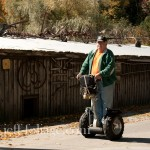 Hans Eccardt on his Segway