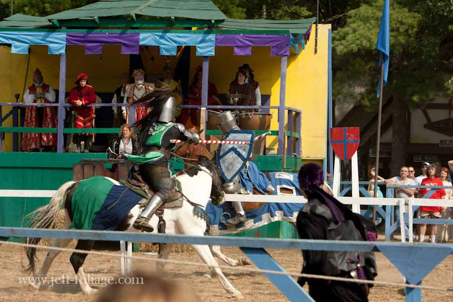 jousting on horseback at King Richards faire in Carver Massachusetts.