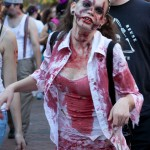 Zombie walking in Salem MA