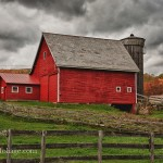 Red Vermont barn in Danby Vermont