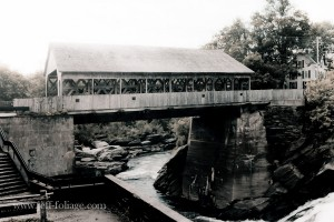quechee covered bridge in Vermont outside Woodstock Vermont
