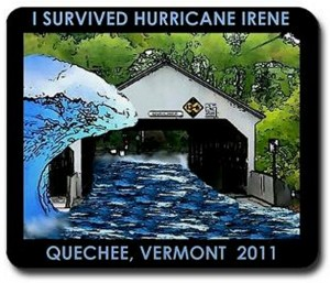 Quechee Vermont covered bridge-I survived hurricane Irene