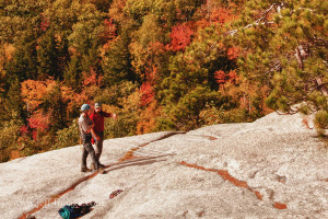 Fall foliage on Cathedral ledge