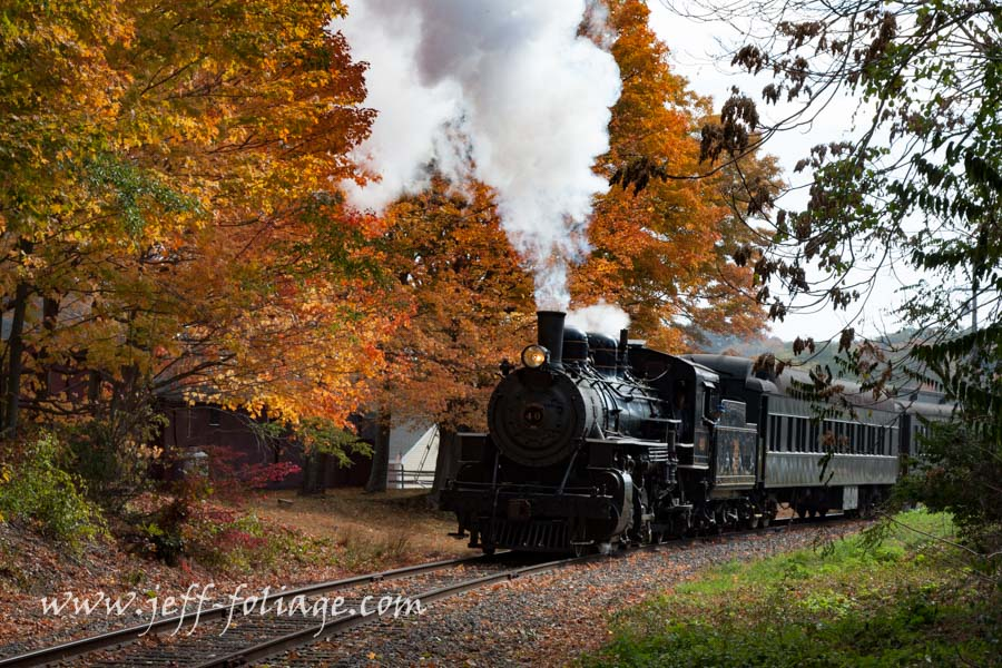 touring on trains in New England