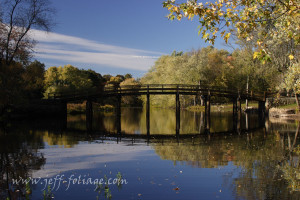 early fall foliage colors near the Old North Bridge in Concord Massachusetts