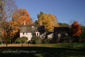 Fall foliage over New Englands Old Manse