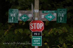 A Vast trail sign which should say, truck or car drivers, STAY THE HELL OUT! I was in my 4X4 truck and survived it. But this is NOT a road to be on. Please take my word for it... #JeffFolger, #Vistaphotography, #JeffFoliage