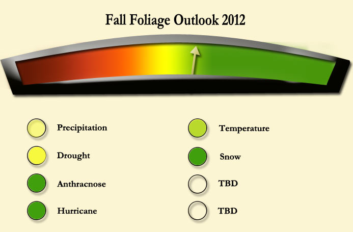 Official New England fall foliage meter depicting what I think the fall foliage season in New England will be like.