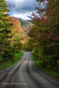 view of Hazens notch on route 58 looking toward Montgomery Vermont