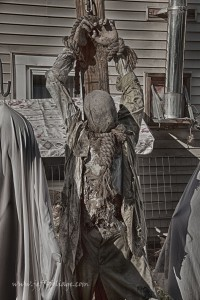 an unhappy visitor to the haunted house in Monson