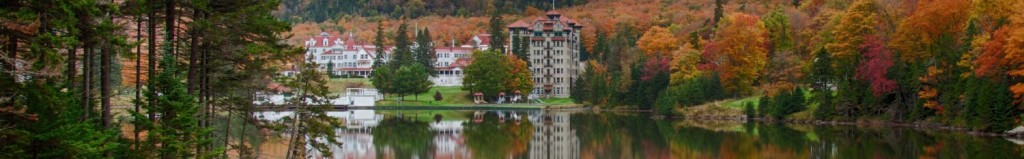 The fall colors of New England come early to Dixville notch in New Hampshires white mountains