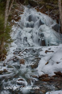 Ice covered water fall in Granville Vermont. Moss Glen Falls is a easy trip even in winter but be careful when pulling into or out of the lot.