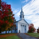 #Vistaphotography #JeffFolger, #JeffFoliage, Oct 6 2012 at a Sturbridge Villiage church under fall color