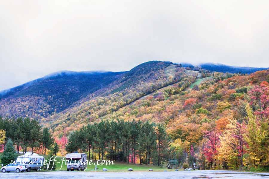 Pano from Cannon Mountain in the autumn