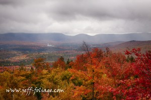 foliage forecast, A fire tower view of the hills in Milan State Park