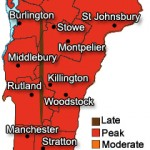 Vermont fall foliage map showing where the fall colors are at