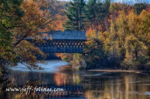 Henniker Covered bridge in autumn