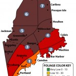 Maine fall foliage map with fall colors