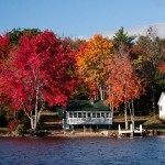 Fall colors onLake Winnepasukee in New England
