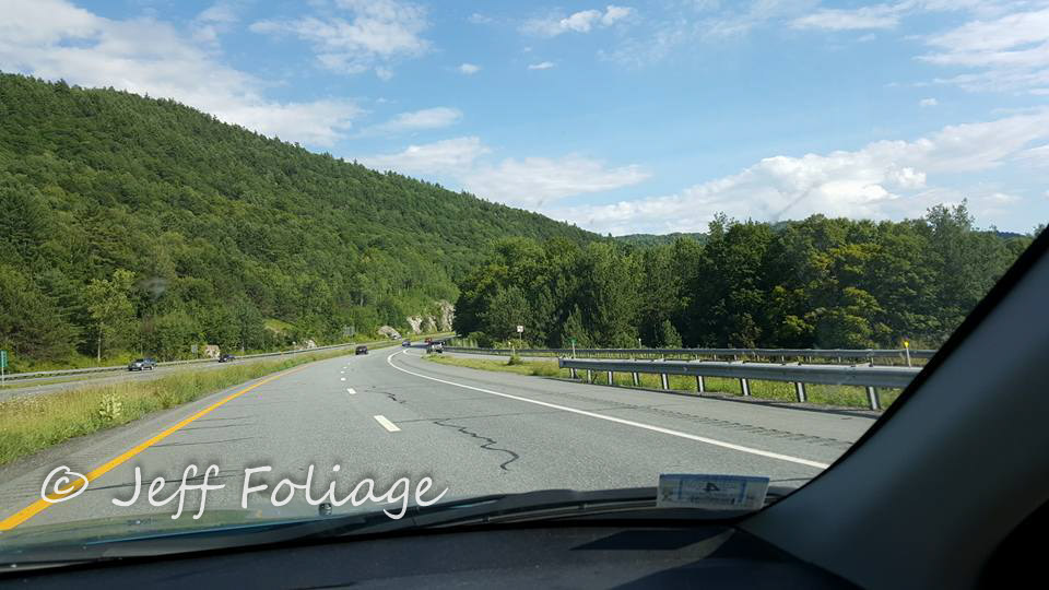 Driving down I-89 in the Green mountains of Vermont in August shows us the summer has a strong hold on Vermont and New England.