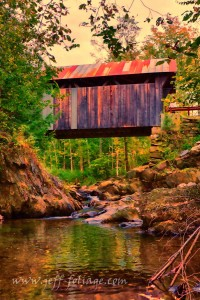 Fall colors over Emily's covered bridge