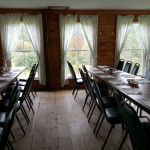 Dining room in Retreat center