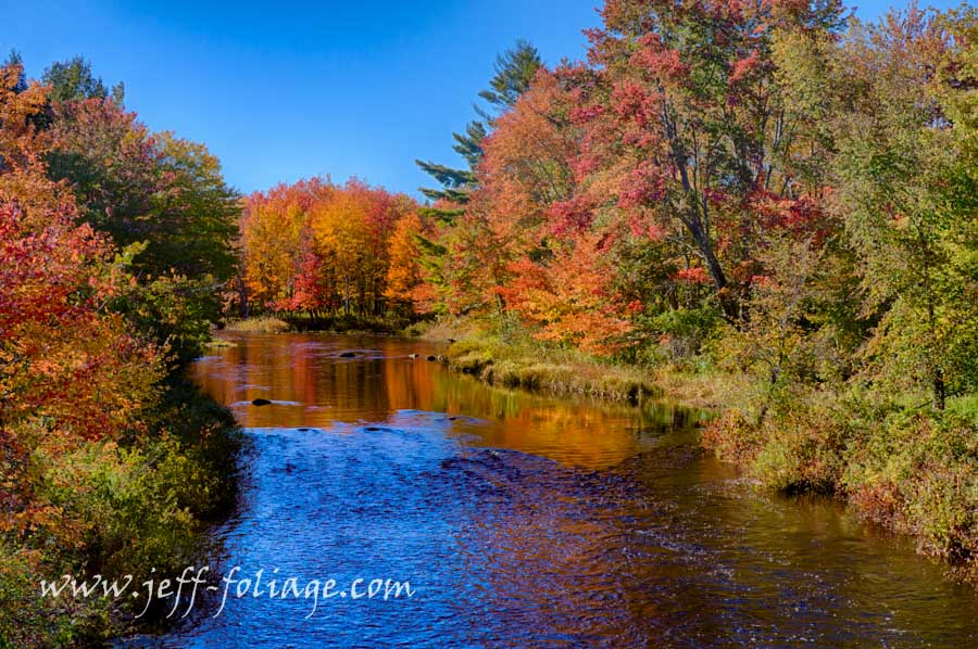 Fall foliage reflection on a Maine brook. #foliage_Reports, #JeffFolger, #JeffFoliage, #Vistaphotography