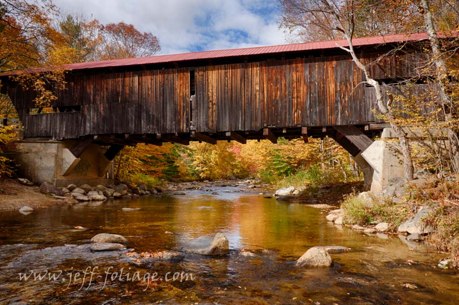 Fall colors over the Durgin covered bridge