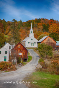 Iconic Vermont view of the Waits River church
