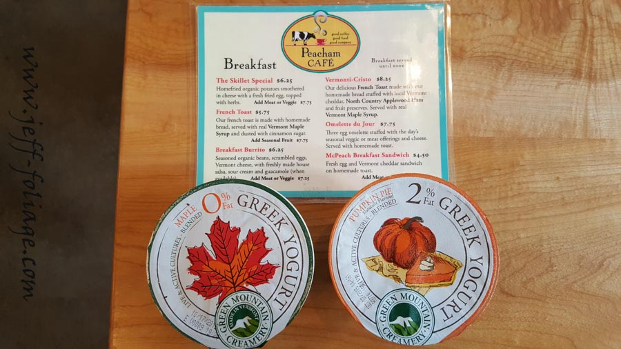Autumn fall folor maple or pumpkin yogurts