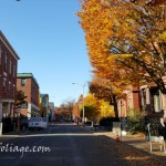 Essex street lined in color in November