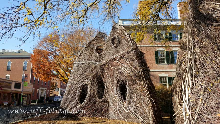 sticks and nothing else hold this sculpture together