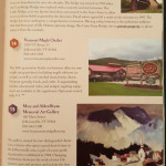 Vermont guide book listing the Gates Farm covered bridge
