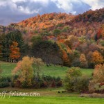 Idyllic Vermont scenic drive up cloudland road to stage rd.