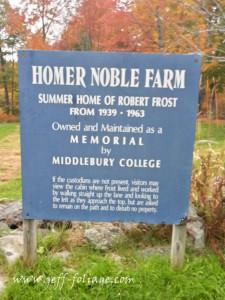 Robert Frost Homer Nobel Farm in Ripton VT