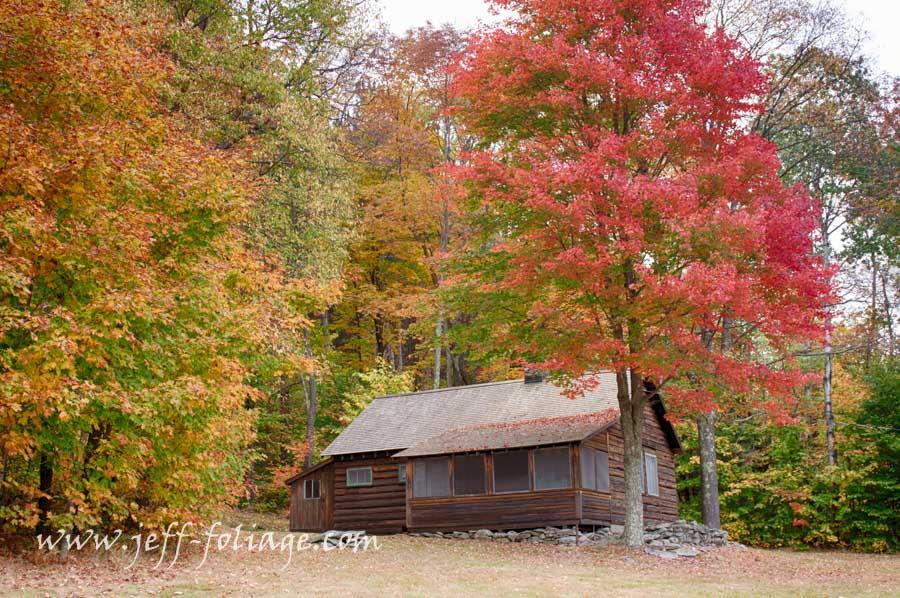 His summer cabin at the Homer Nobel Farm in Ripton VT