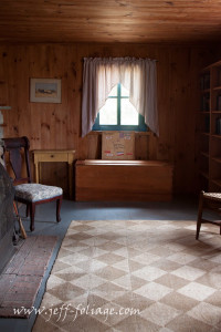 looking in on the cabin just as Robert Frost left it.