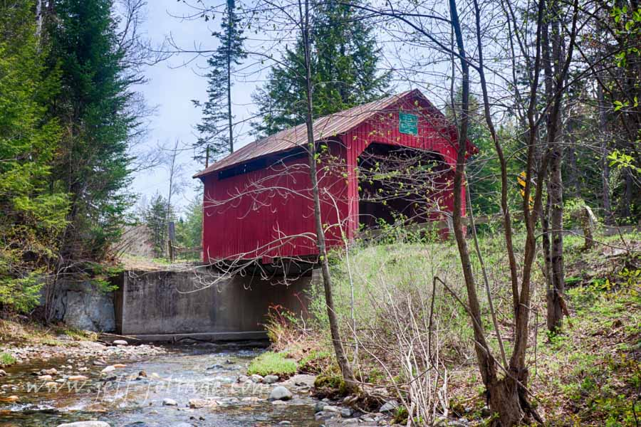 Spring at the Stony covered bridge