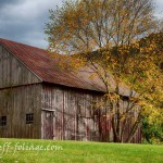 Barn on the hill in Vermont