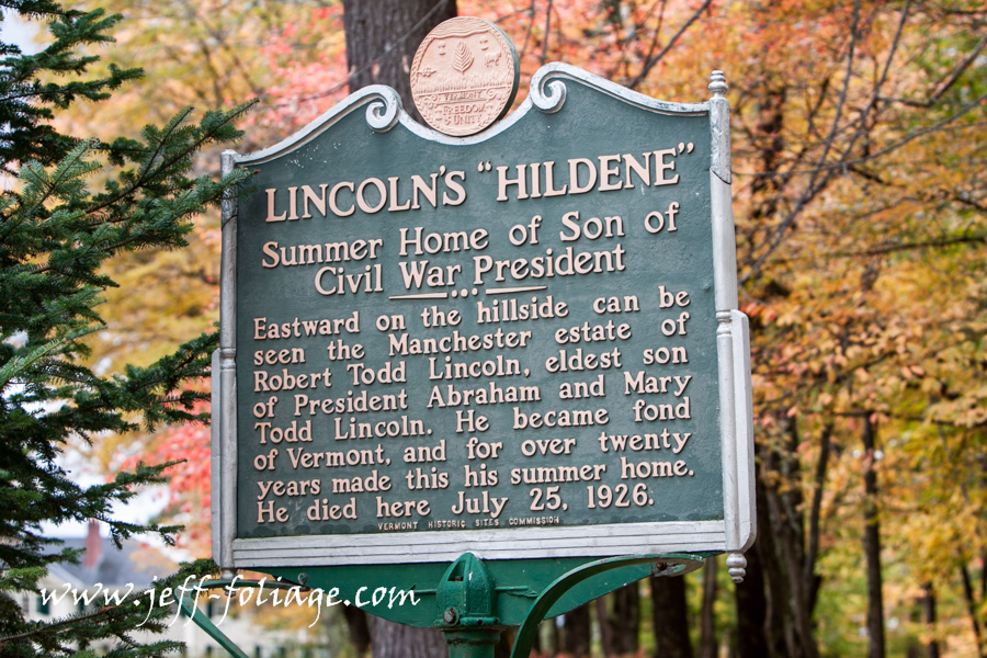sign for Todd Lincoln in Manchester Vermont