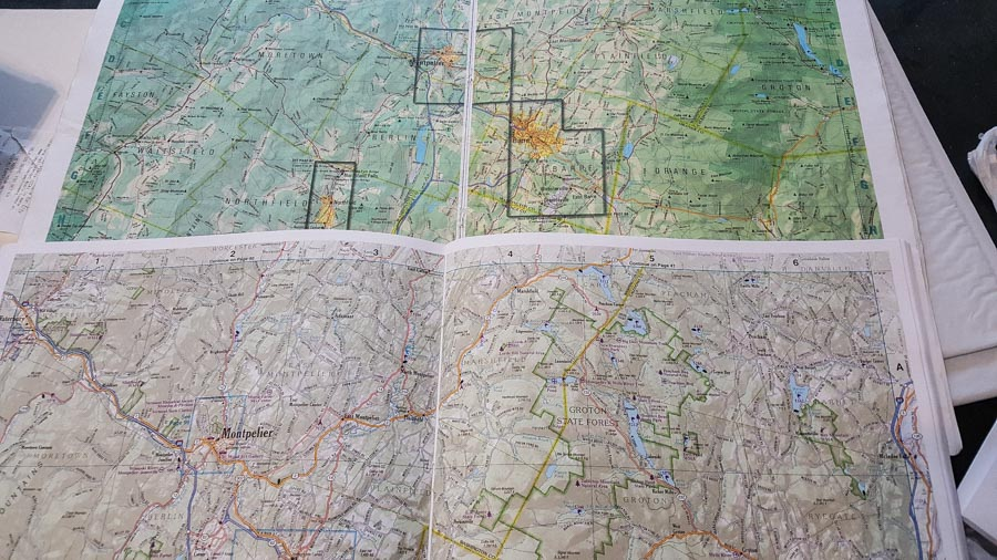 Gazetteer map book for Vermont and New Hampshire