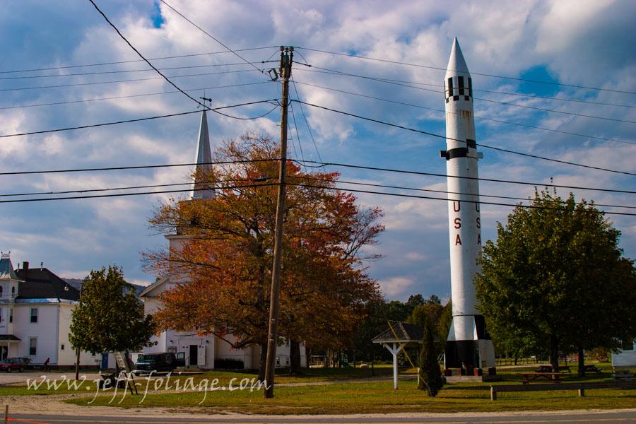 Mercury-redstone rocket in New Hampshire's Warren New Hampshire.