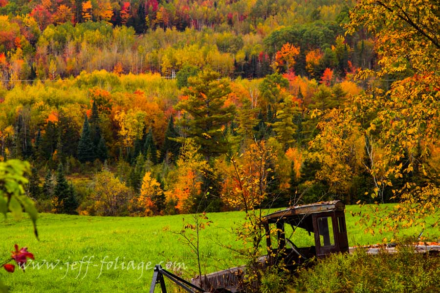 The sugar Hill Maple Farm is on Easton Road between the fall colors of New Hampshire